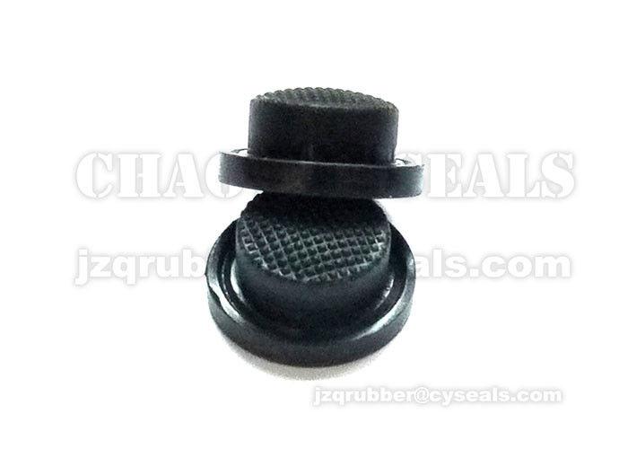 Black Rubber Push Button Covers Fire Resistant For High Light Glare Flash Beam