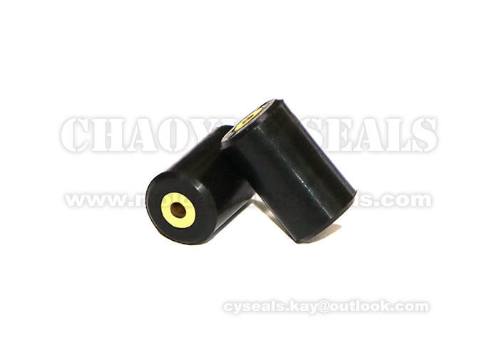 Anti Oxidation Custom Rubber Products Brass Parts With Black Silicone Coated